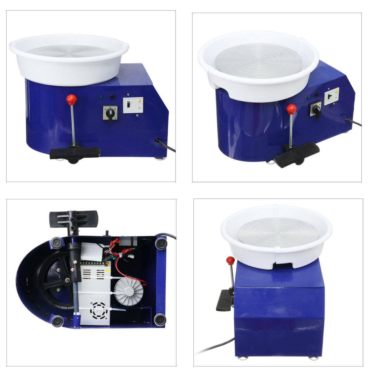 220V 550W Electric Pottery Wheel Ceramic Machine 300mm Ceramic Clay Potter Kit