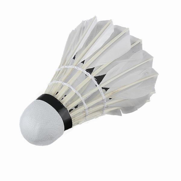 6 x entrenamiento deportivo juego de pelota de bádminton blanco pluma de ganso
