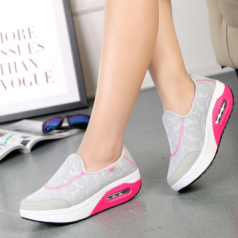 Other Womens Shoes - Lace-Up Casual Rocker Sole Shoes
