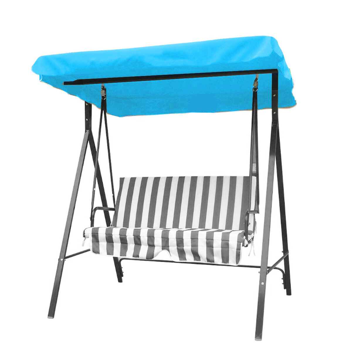 Outdoor 3 Seater Garden Swing Chair Replacement Canopy Spare Fabric