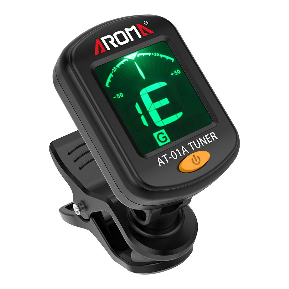 Aroma AT-01A Clip-on Tuner Tuning for Guitar Bass Violin Ukulele