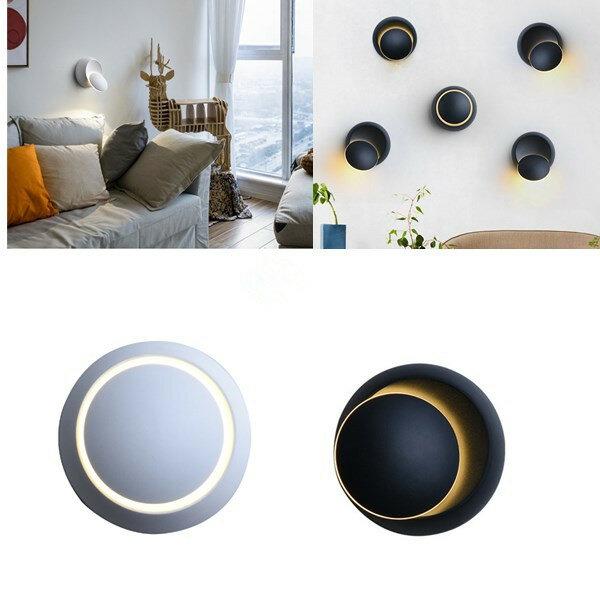 5Wモダン360度回転LED Sconceウォールライト白/暖白色屋内装飾ランプAC220V