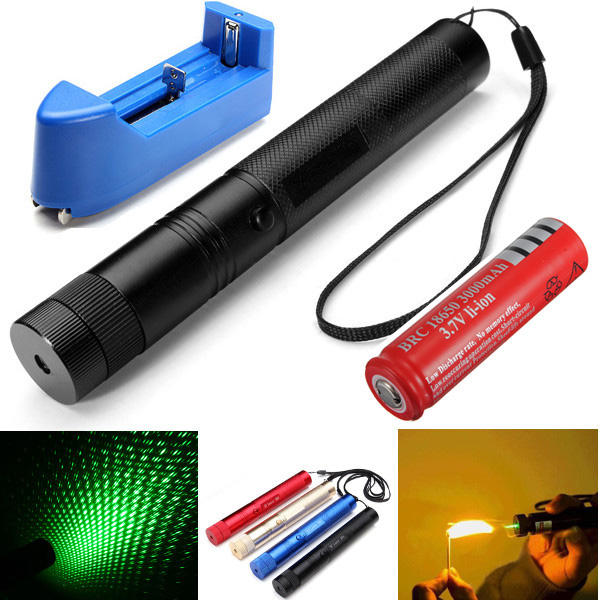 XANES GD03 Burning Laser 303 Green Laser Pointer +Light Star Cap 532nm
