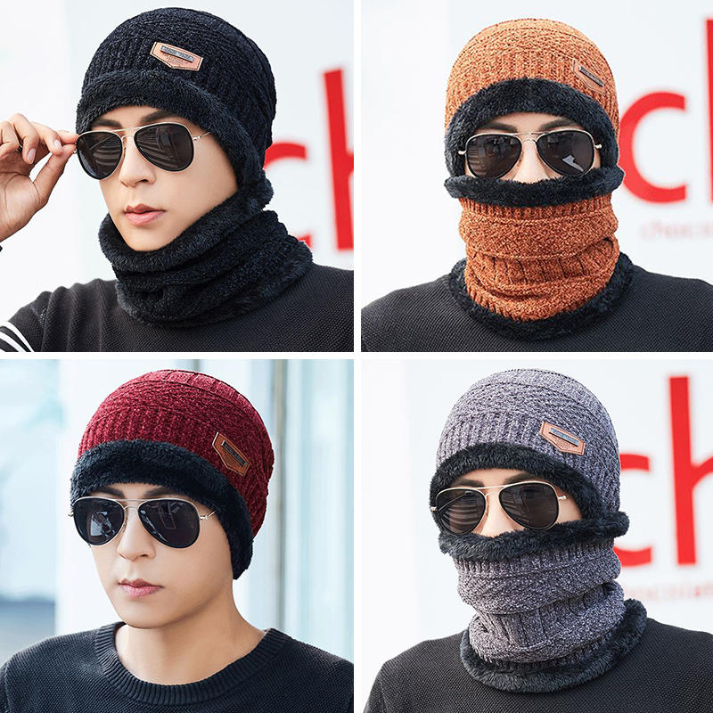 56a4c5f712a Mens Winter Windproof Multipurpose Knit Hat Brimless Beanie Cap Plus Neck  Warmer COD