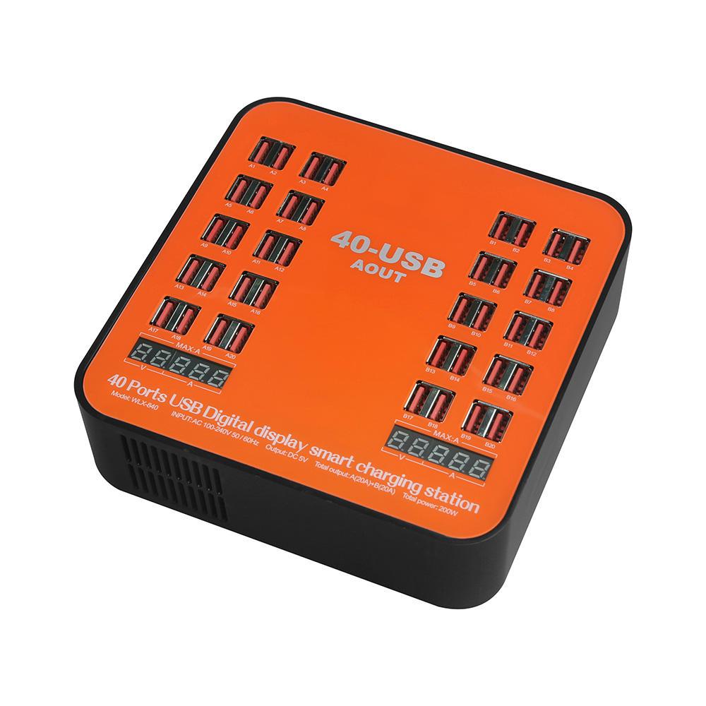 840 Многофункциональный перезаряжаемый LCD Динамический Дисплей 150 Вт Высокомощный многопортовый 40-портовый Зарядное устройст