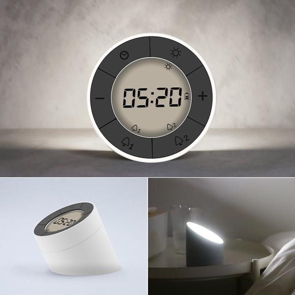 Hervorragend 2 In 1 Multifunktions Digital Wecker LED Nachtlicht Umbrella Uhr Atmosphäre  Lampe 10 Hebel