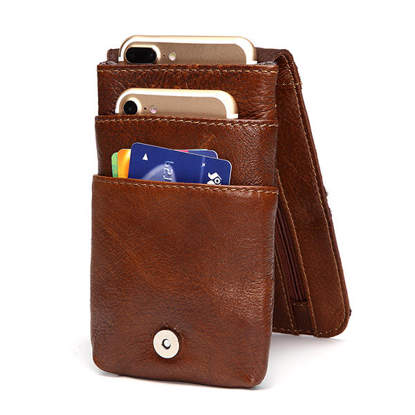 5.5inches men buiness genuine leather waist bag at Banggood sold out ab3585c96826d