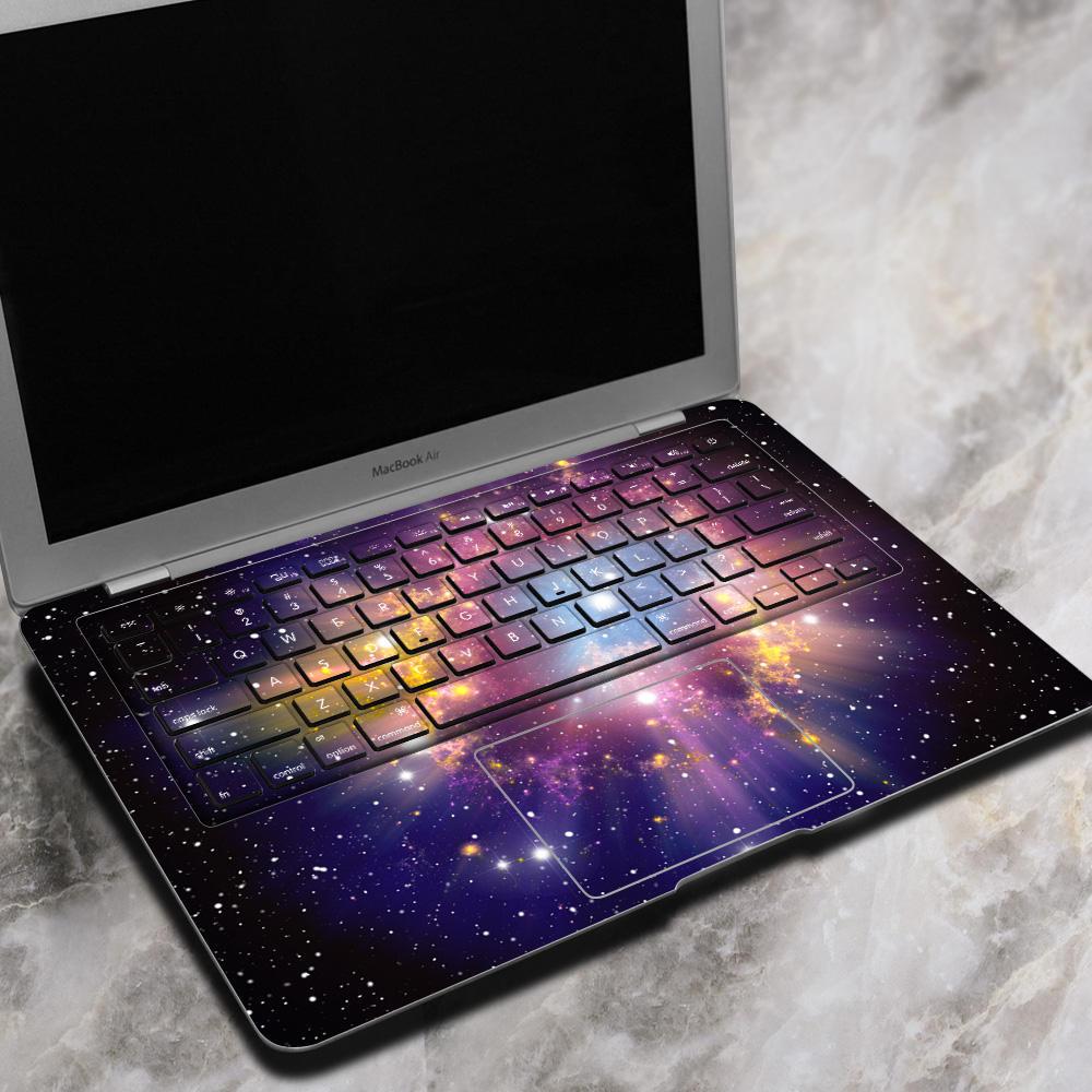 Pag nébuleuse diffusion ordinateur portable autocollant autocollant sans bulle auto-adhésif pour macbook air 13 pouces
