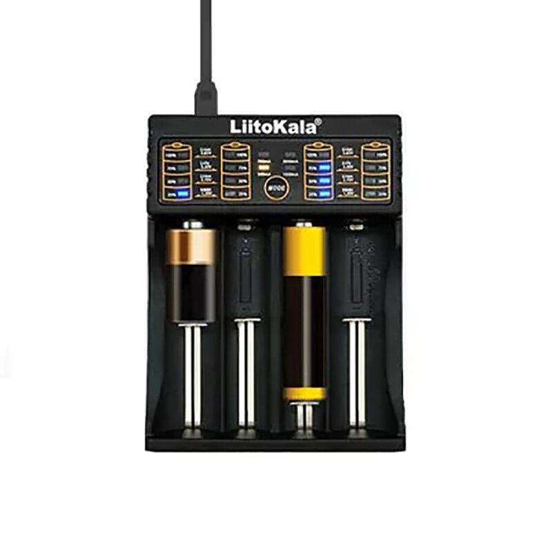 Liitokala Lii-402 Micro USB DC 5V 18650/26650/16340/14500 Cargador de la Batería de 4 Ranuras