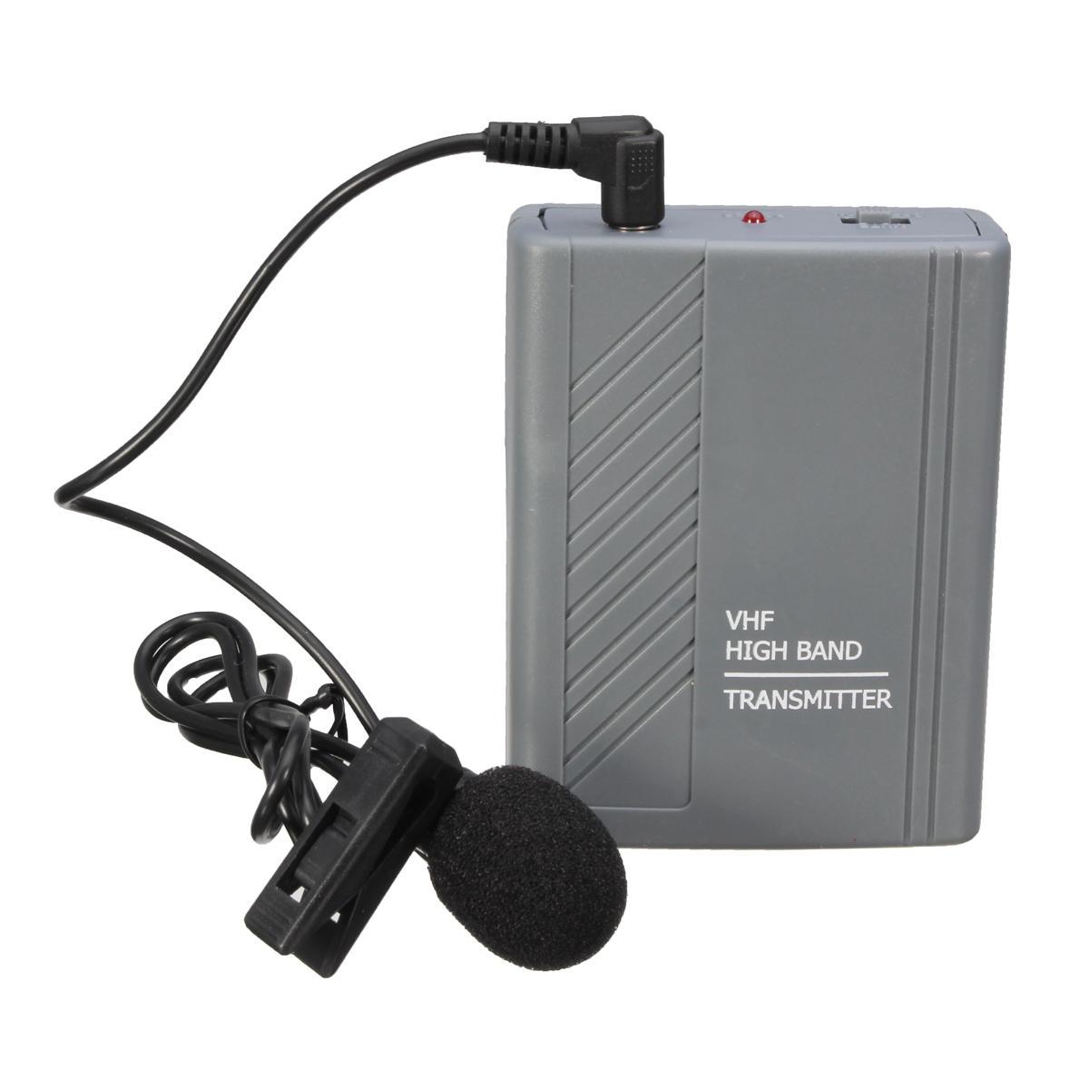 Auricolare clip-on per l'insegnamento wireless Meeting Lavalier Microfono Trasmettitore audio altoparlante MIC ricevitore