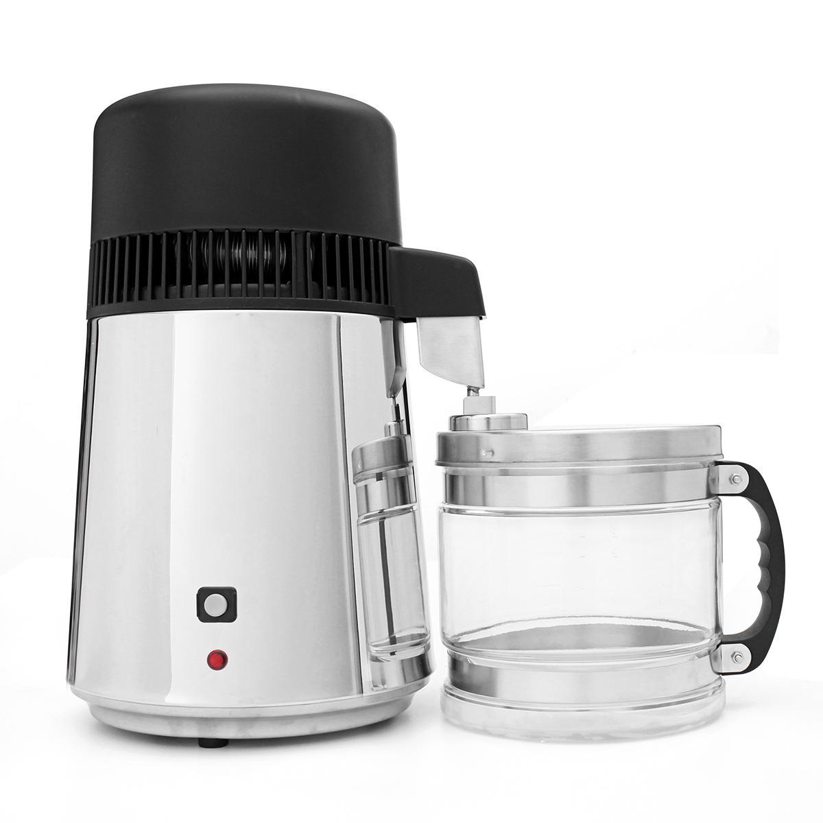 750W 4L de acero inoxidable Purificador de agua pura Purificador de la cocina Filtro de la máquina Botella de vidrio libre Tarro