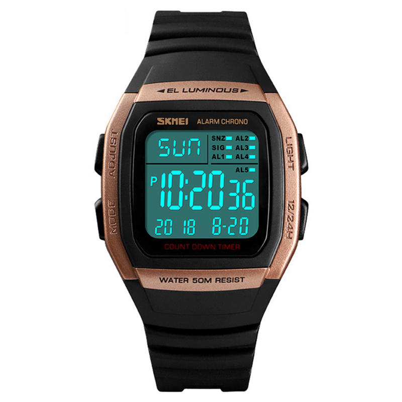 Digital Watches Careful Sports Watch Outdoors Waterproof Led Back Light Casual Fashion Brand Digital Watch Beautiful In Colour