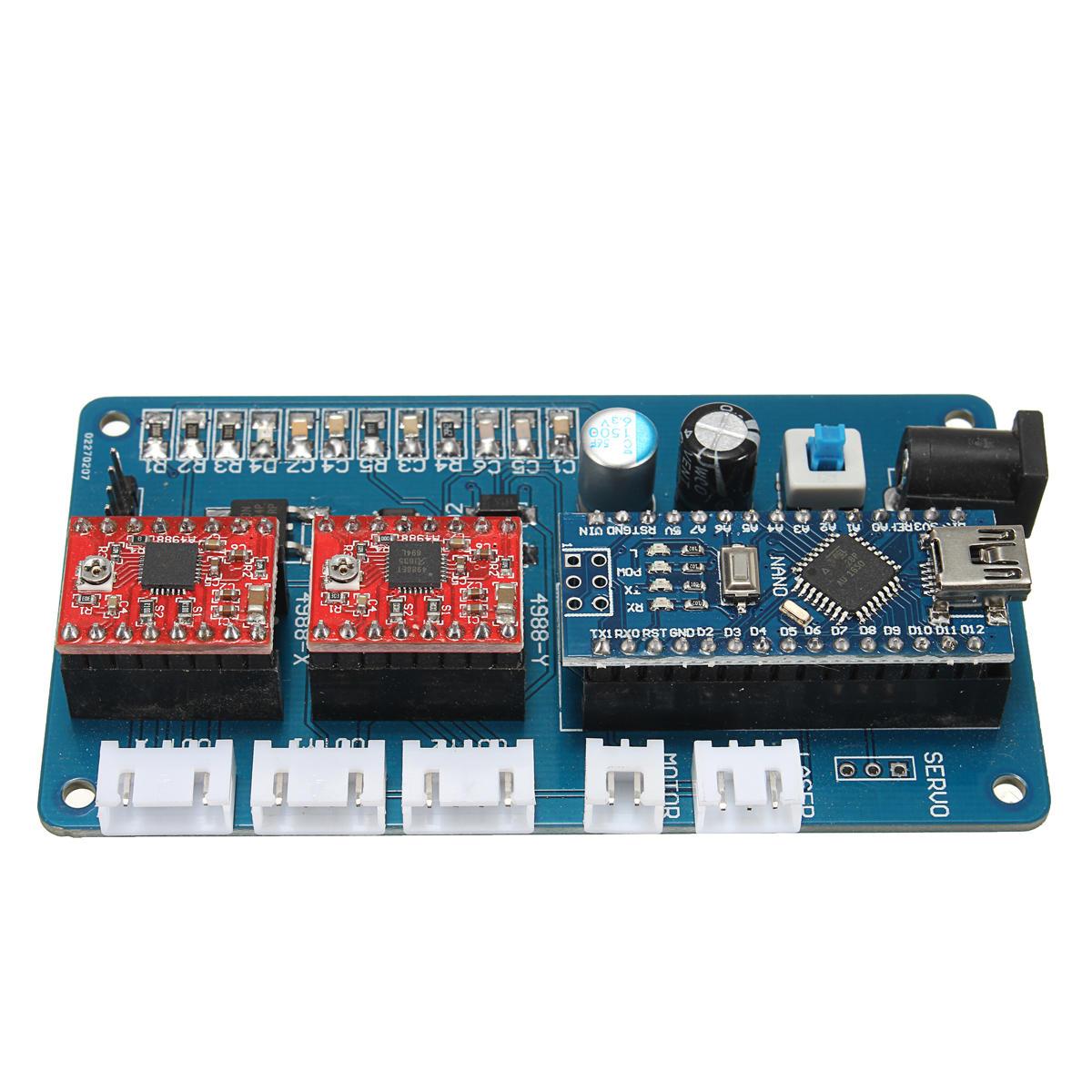 Panneau de panneau de commande de 2 axes GRBL pour la machine de gravure de laser de DIY Panneau de conducteur de pas de roue USB de Benbox