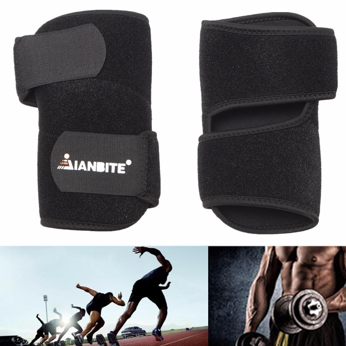 IANBITE Adjustable Neoprene Elbow Support Wrap Brace Compression Pain Relief Sports Protector