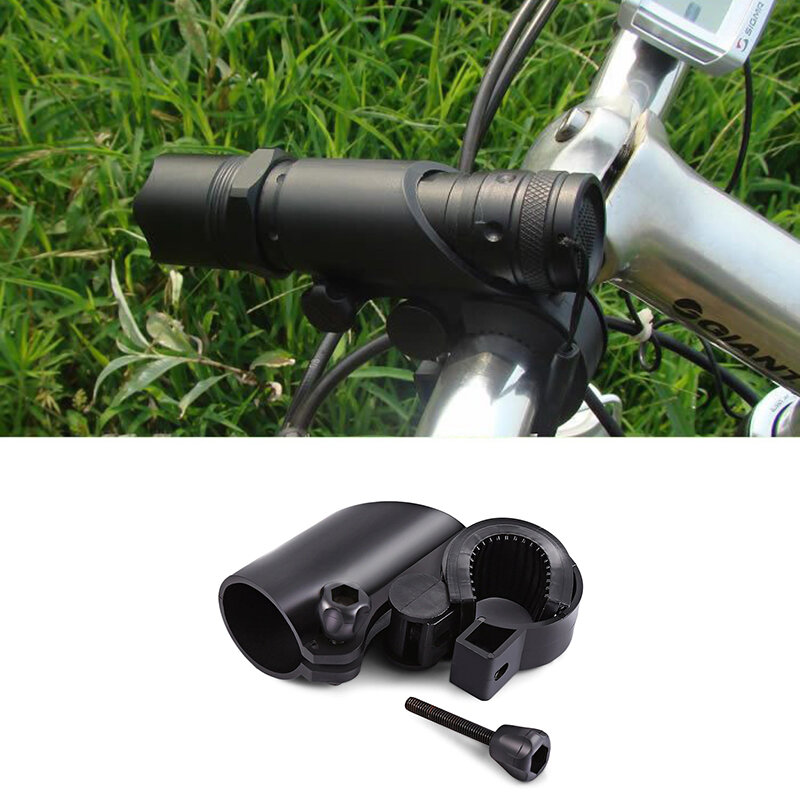 BIKIGHT Bike Bicycle Flashlight Holder Mount Bracket 360° Rotary Cycling Light Clip Adjustable Clamp