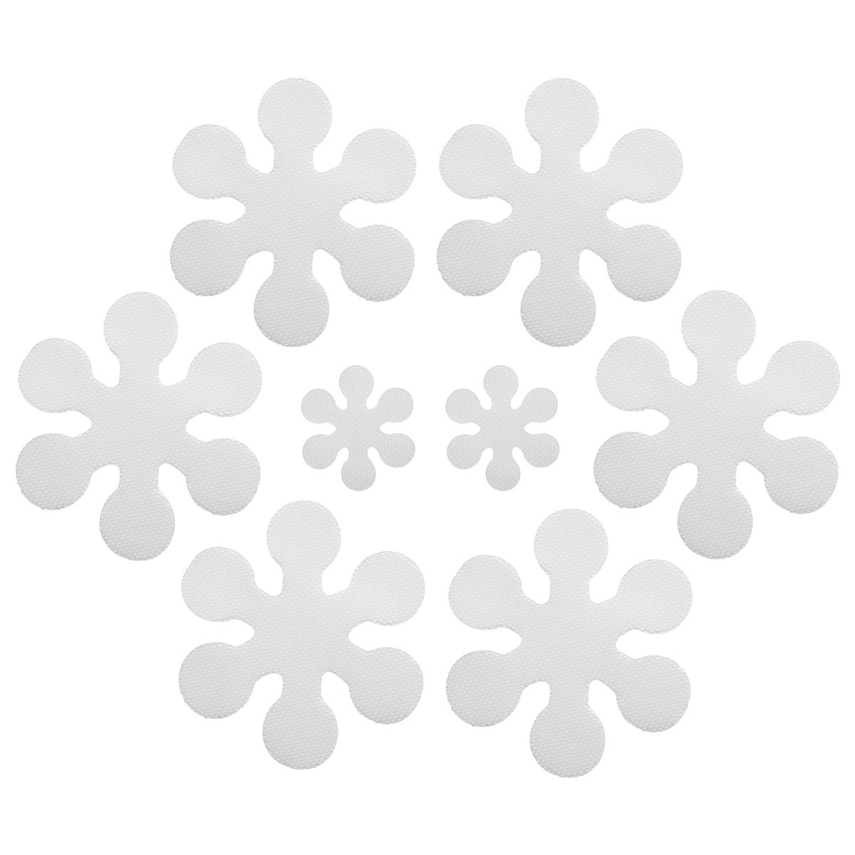 8Pcs Snowflake Shape Anti Skid Vasca da bagno impermeabile Treads Bagno Stickers Decorazioni