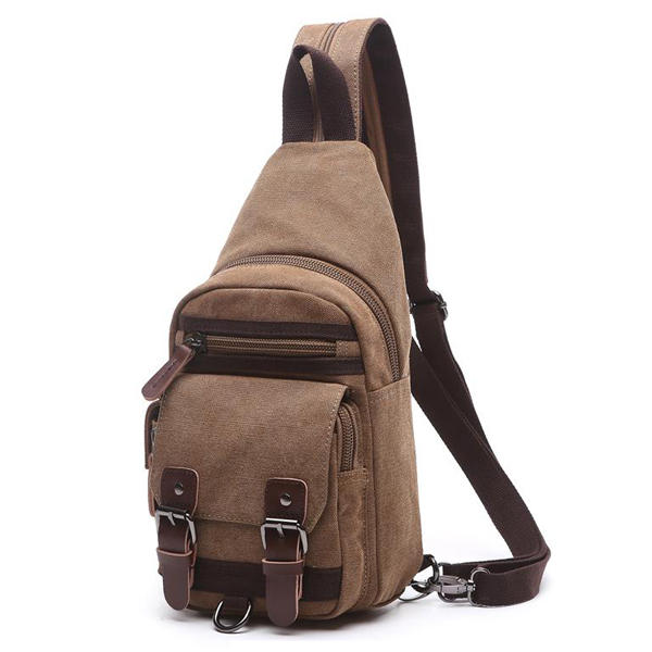 Canvas Casual Outdoor Travel Crossbody Bag Backpack for Men Women
