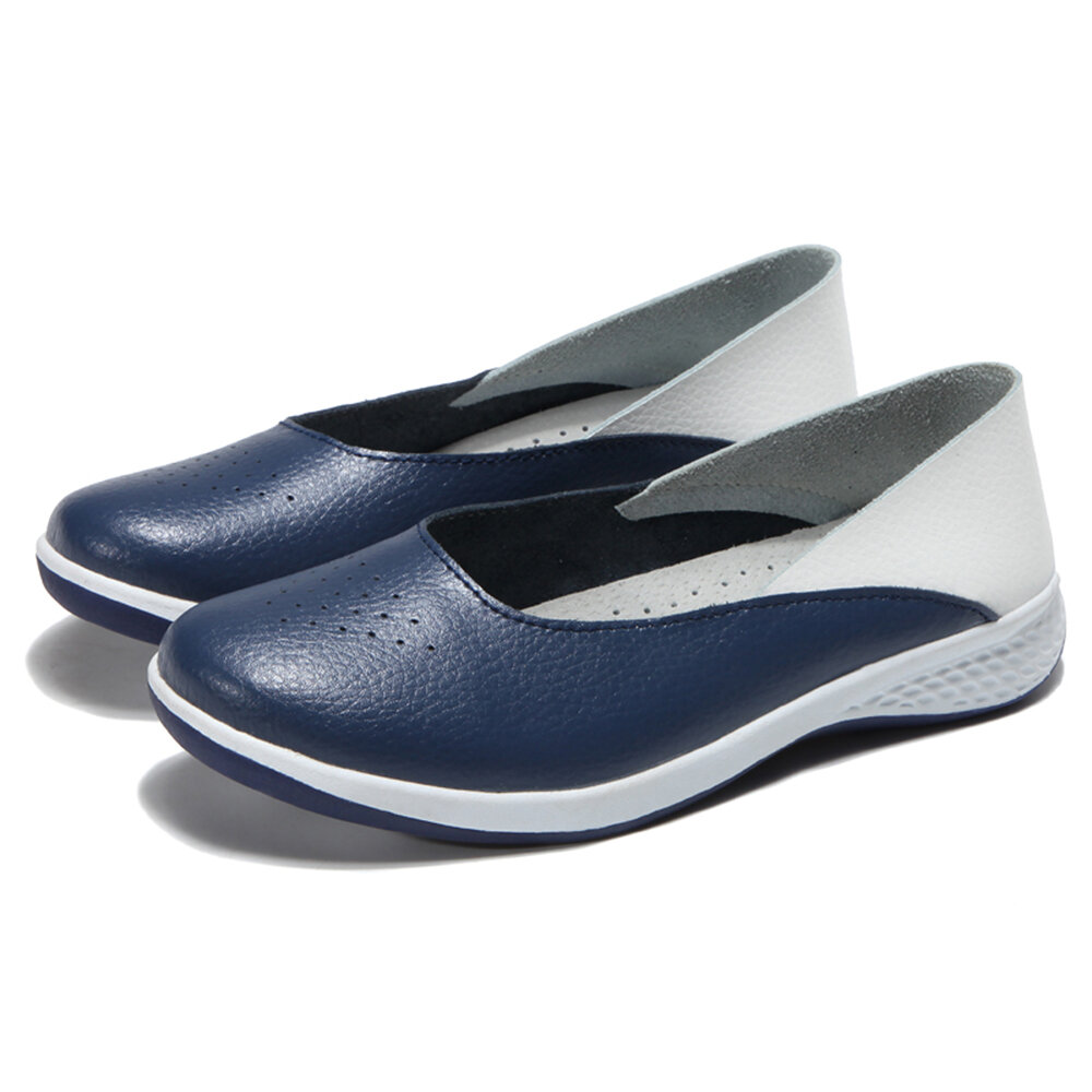 Mujer Casual Soft Slip On Flats Mocasines