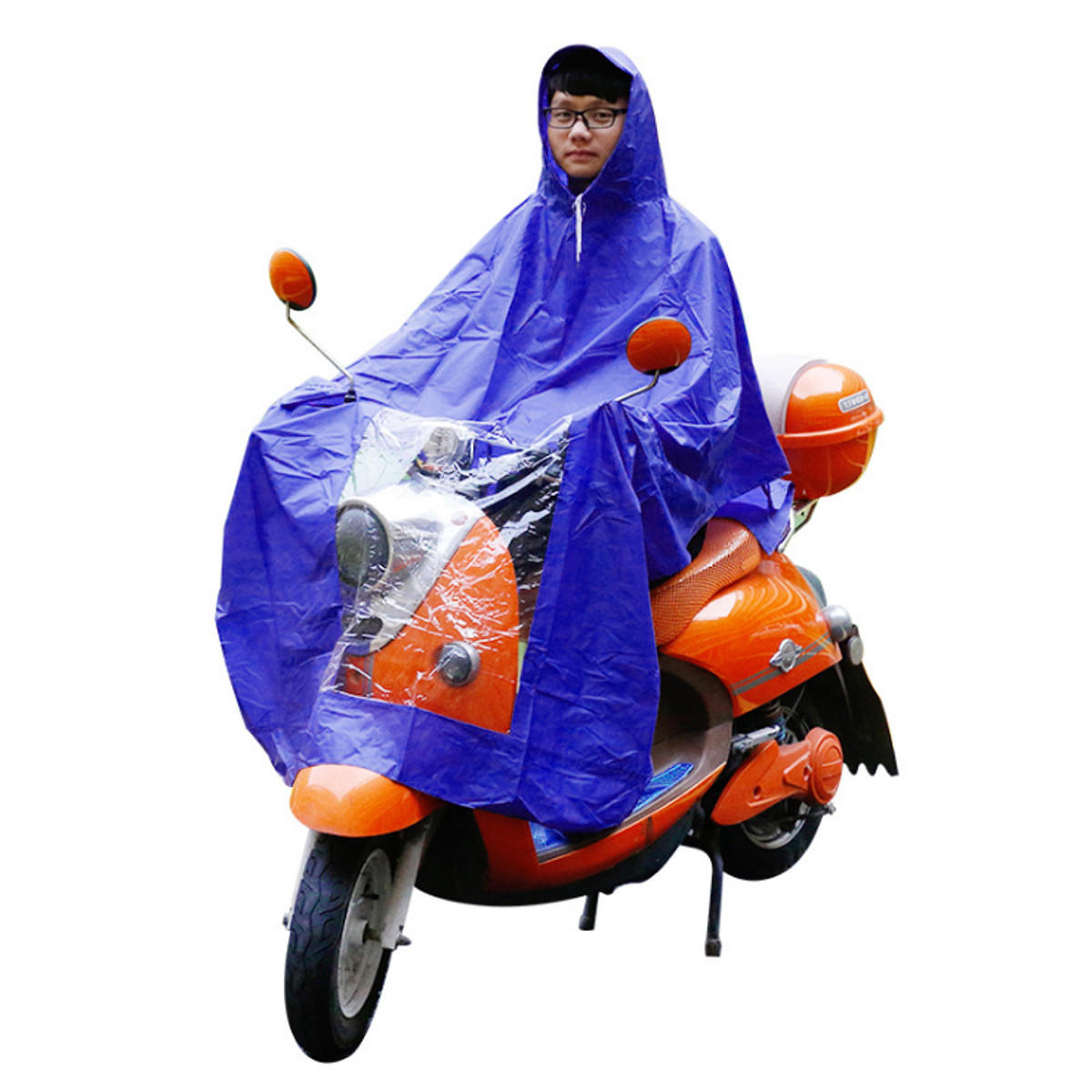 Motorcycle Rider Raincoat Waterproof Motorcycle Scooter Raincoat Cover Windproof Pvc Motorbike Bike Rider Rain Coat Covers Bule Red A Great Variety Of Models Motorcycle Accessories & Parts
