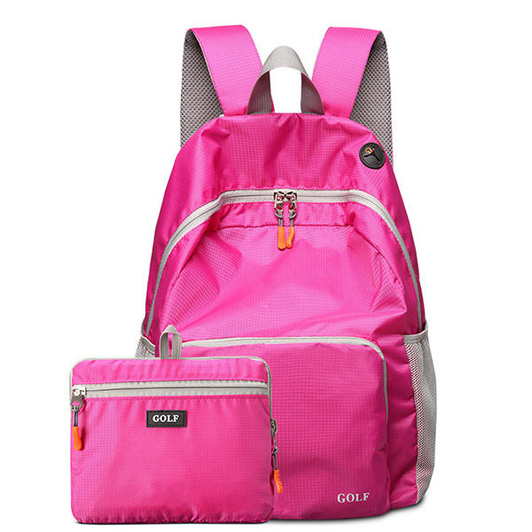Nylon Waterproof Light Weight Fold Over Large Capacity  Travel Sport Outdooors Backpack  Women and  Men