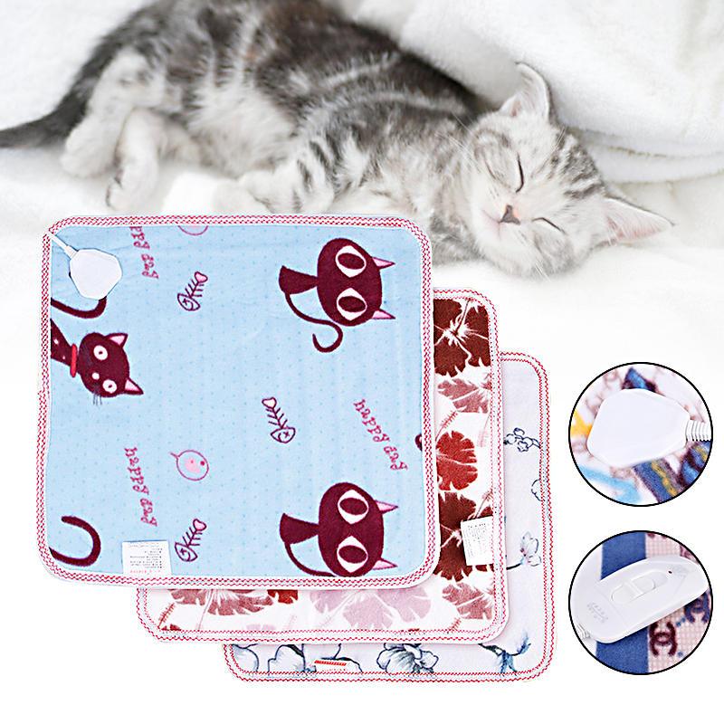 Couverture électrique chauffante pour chien en tissu de velours avec tapis chauffant pour animaux domestiques Soft