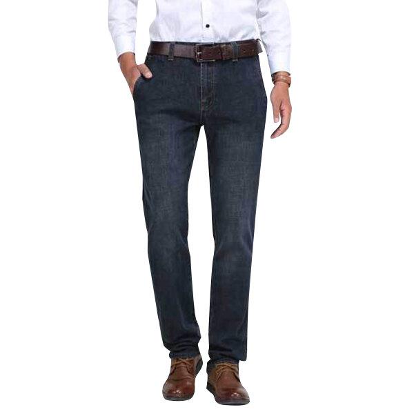 บุรุษกลางเอวฝ้ายขาตรงกางเกงยีนส์กางเกงยีนส์กลางแจ้งกางเกงขายาวสีทึบ