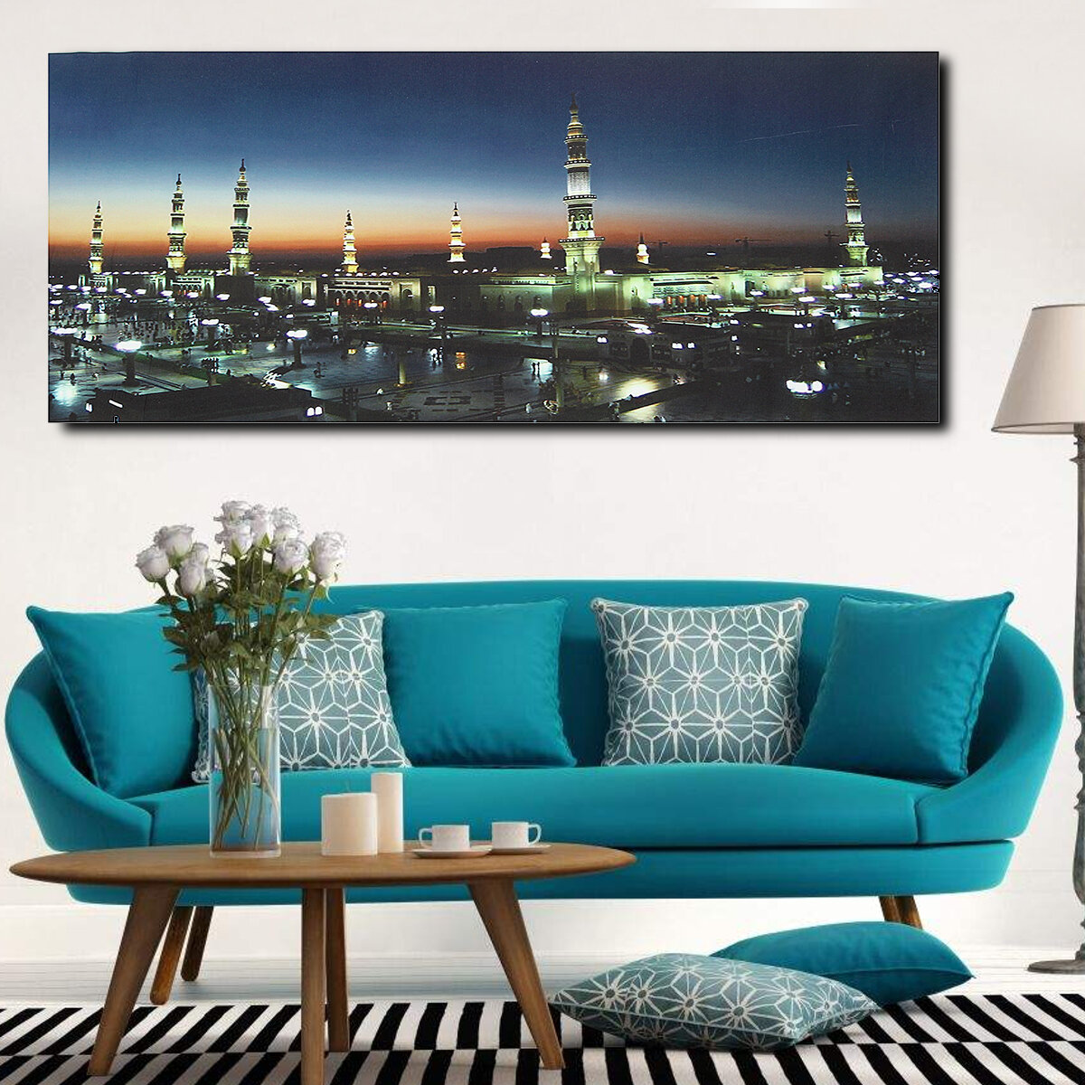 Wall Art Print Masjid Mosque Islamic Muslim Canvas Paintings Picture Home  Decor COD