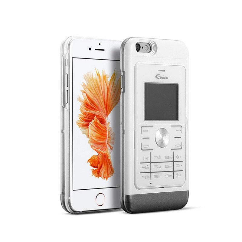 Guoer funzione dual sim chiamando cassa del telefono di protezione intelligente copertura posteriore per iPhone 6 6s
