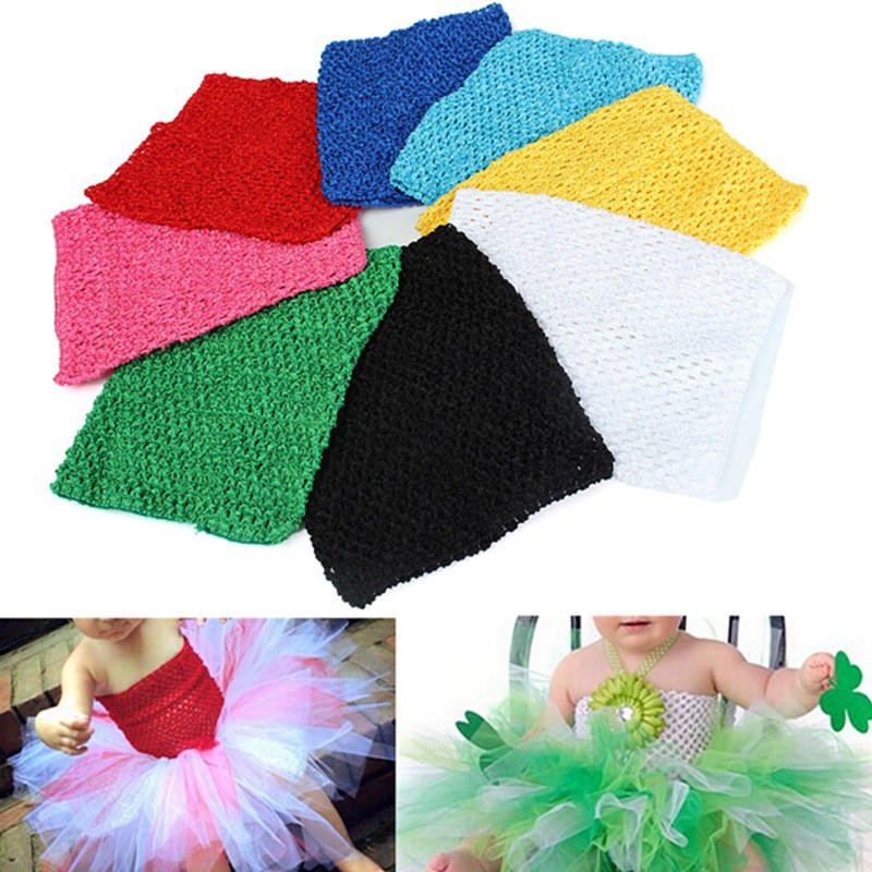 9 Inch Children Girls Crochet Tube Top Elastic Waistband Head Hair