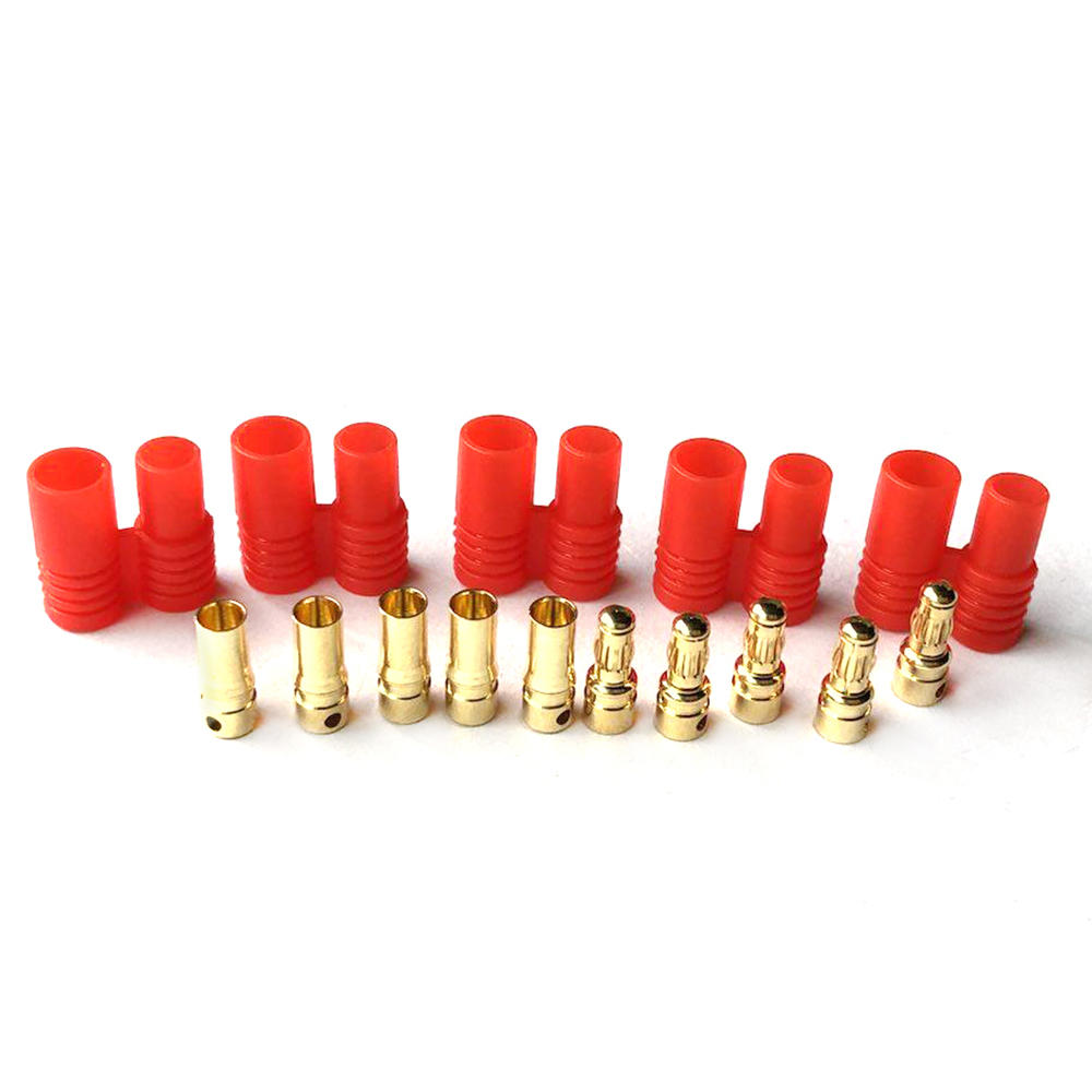 5 Pairs 3.5mm Banana Plug With Belt Sheath For RC Drone FPV Racing Multi Rotor
