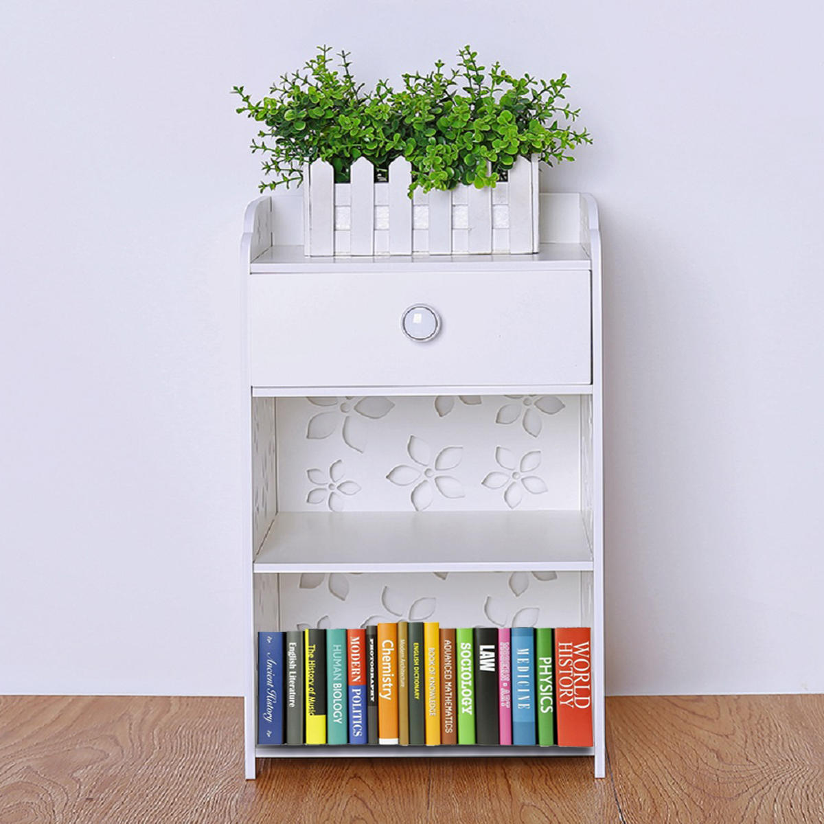 modern white flower bedroom bedside table rack cabinet kitchen rh banggood com