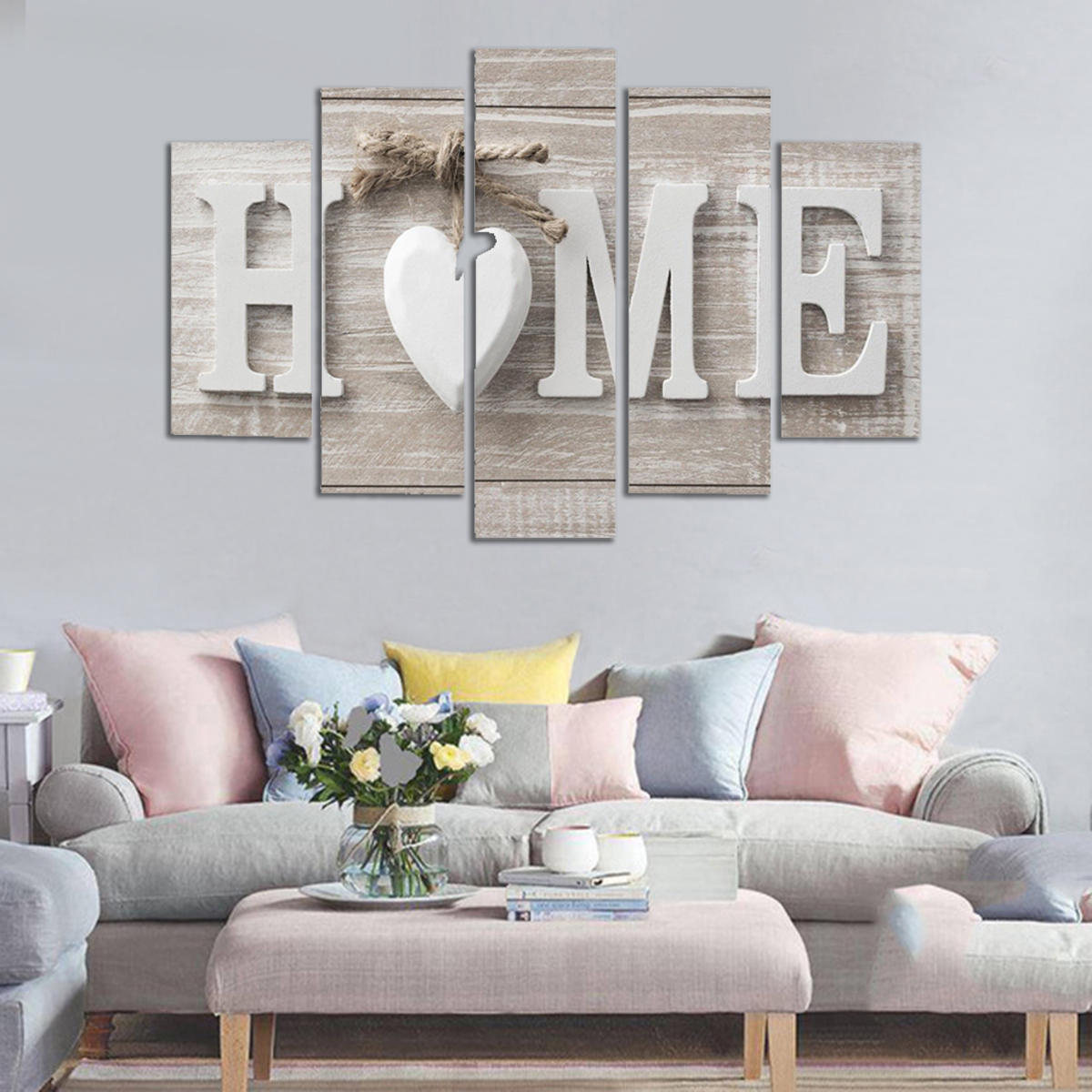 5 Panels Love HOME Wall Art Print Pictures Canvas Prints Unframed For Home Decorations COD