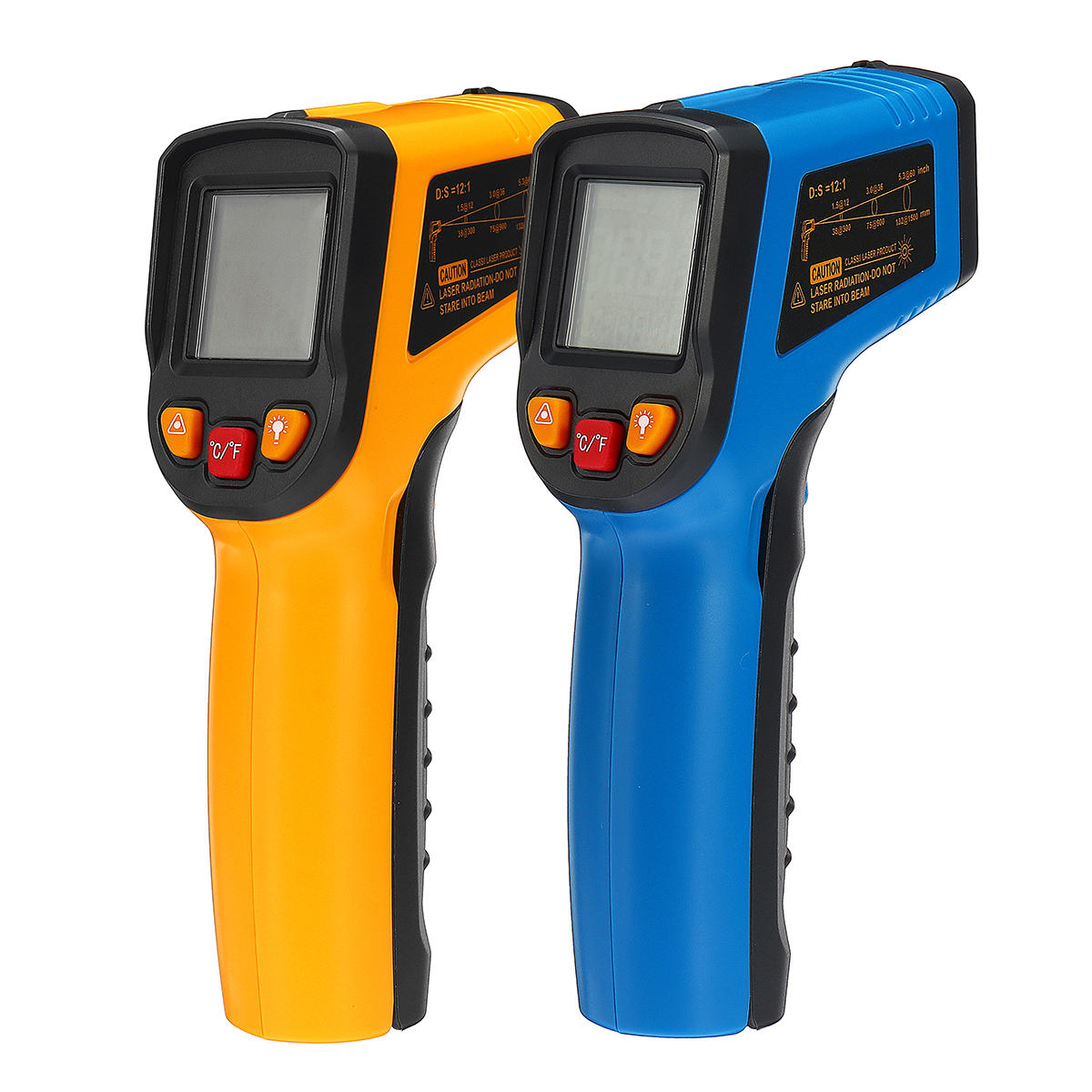 600℃ Infrared Digital Temperature LCD Laser Thermometer Non-Contact IR New