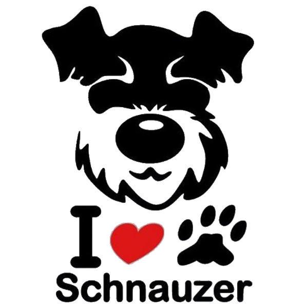 Schnauzer hundklistermärke dekal för bilbilsmotorcykel