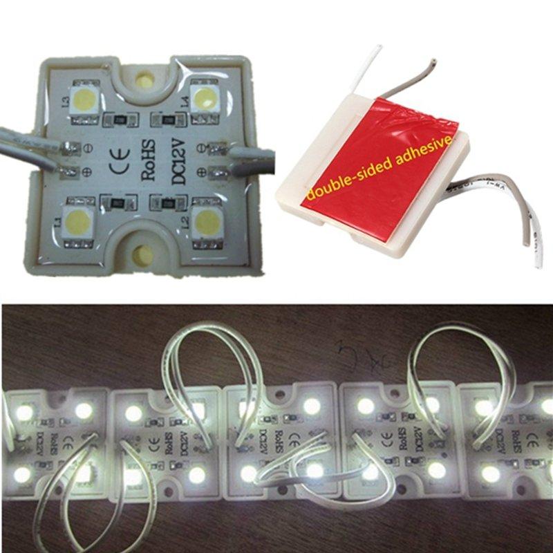 4 LED белый 5050 SMD модуль водонепроницаемый квадратной формы свет лампы полосы DC12V