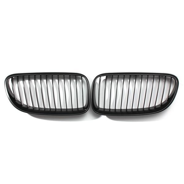 Front Kidney Grille Grills Matte Black for BMW E92 E93 3-Series LCI Face Lift 2DR