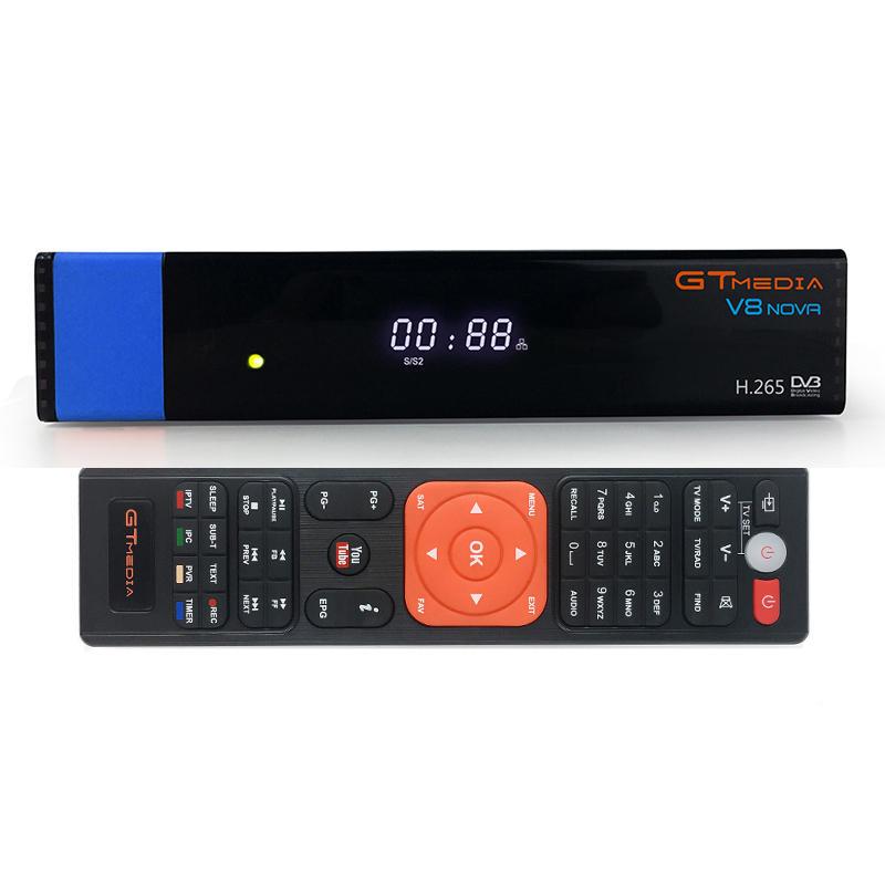 GTmedia V8 NOVA DVB-S2 Satellite TV Signal 1080P HD H.265 WI-FI CCcam integrato ricevitore con porta AV Time Display