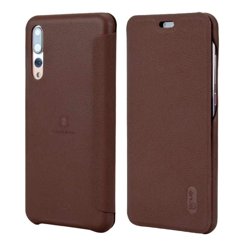 new products 5ceb9 73e9a LENUO Flip Full Cover Soft PU Leather Protective Case For Huawei P20 Pro