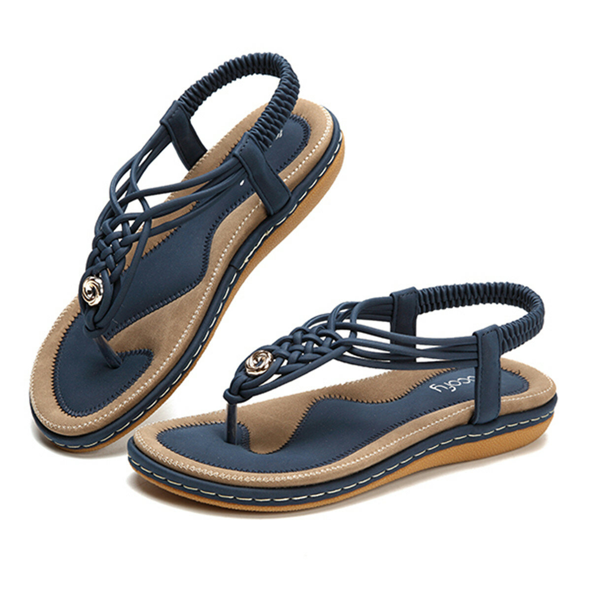 c4d019d91ab3 SOCOFY US Size 5-13 Women Shoes Knitted Casual Soft Sole Outdoor Beach  Sandals COD