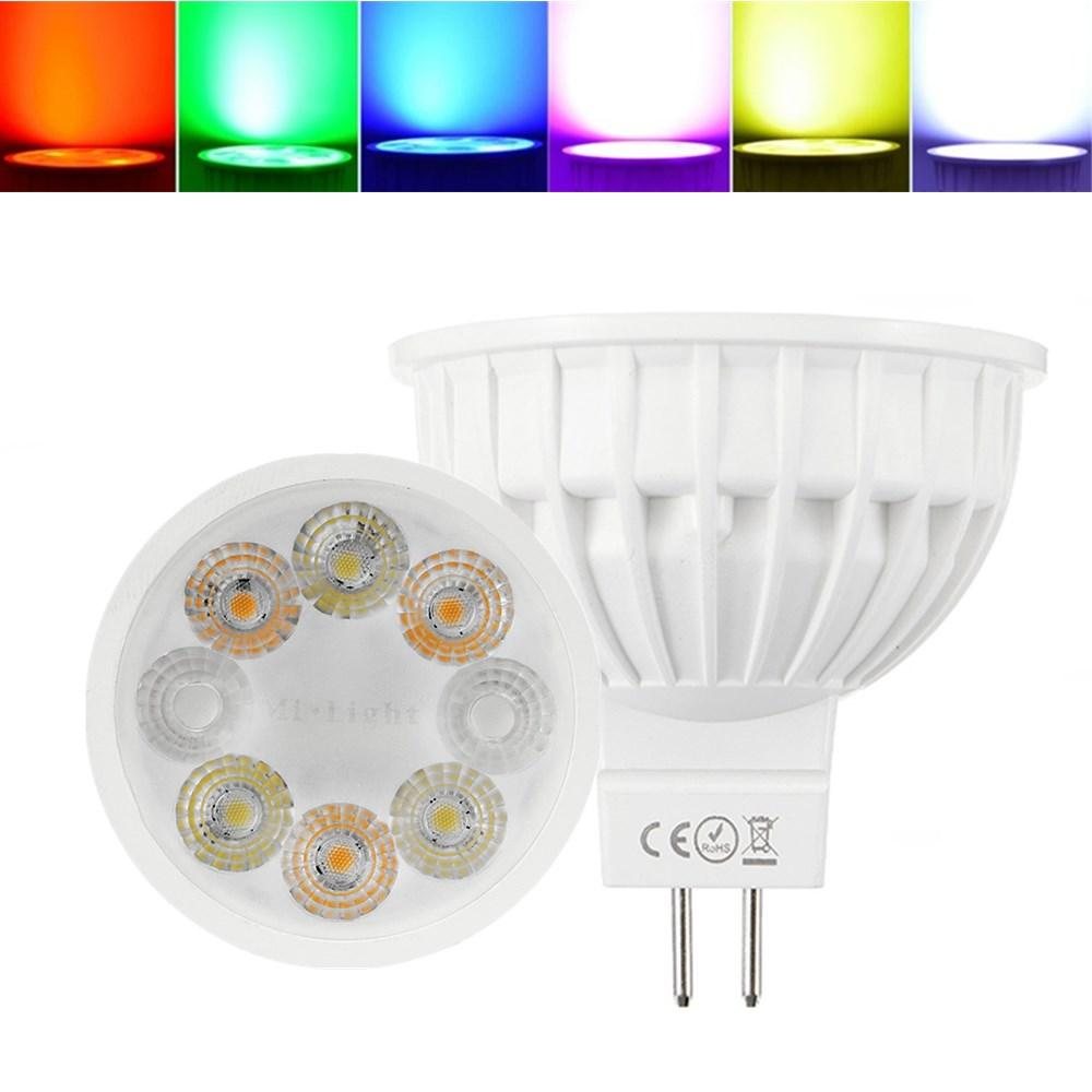 Dimmable Mr16 4w Rgbcct Milight Led Spotlight Lamp Bulb For Home Ac Fluorescent Driver Dc12v