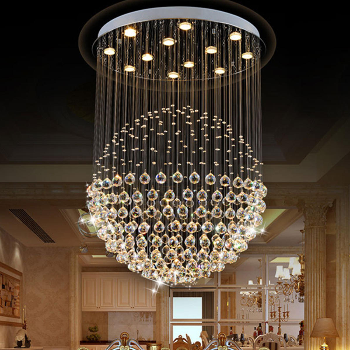 Capable New Led Chandeliers For Living Room Bedroom Dining Room Acrylic Iron Body Interior Home Chandelier Lamp Fixtures Fine Workmanship Lights & Lighting