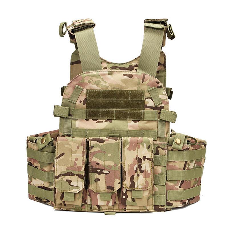 KALOAD 20 Coumouflage Military Tactical Vest Molle Combat CS Assault Protective Vest