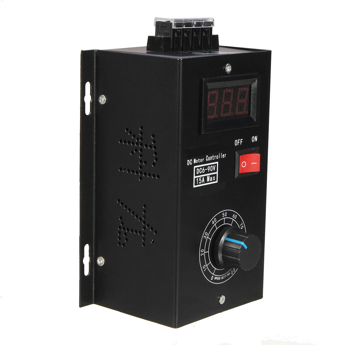 Precise 6-90v 15a Dc Motor Speed Controller Pulse Width Pwm Speed Regulator Switch 16khz High Standard In Quality And Hygiene Integrated Circuits
