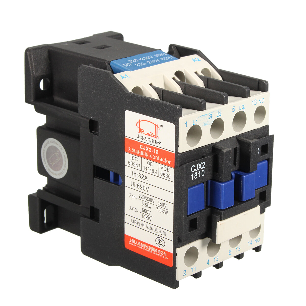 ac contactor ac220v coil 32a 3 phase 1no 50 60hz motor starter relayac contactor ac220v coil 32a 3 phase 1no 50 60hz motor starter relay lc1 d1810 cod