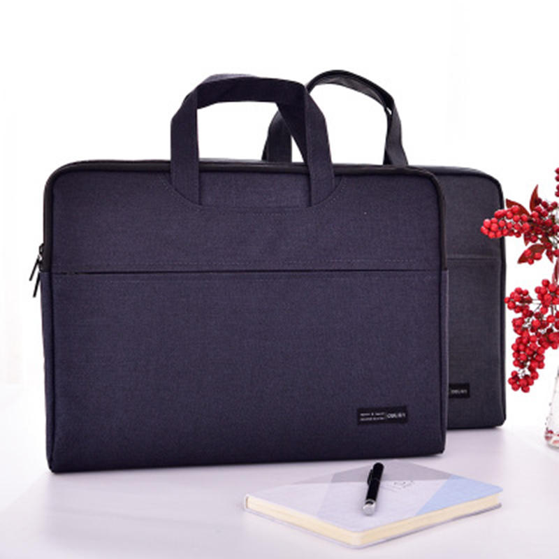DELI 5590 Powerful Portable Zipper Office Meeting Record Acceptance Bag Computer Large Capacity Business Bag