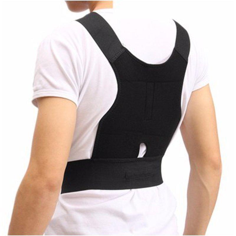 1db112eb336 adjustable back support posture corrector belt shoulder lumb at Banggood