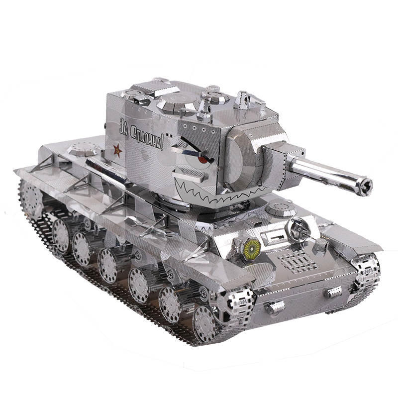 MU DIY ปริศนาจิตเวช 3D สงครามโลกครั้งที่ 2 Russia KV 2 อาคารรถถังรุ่น ชุด สำหรับเด็กของเล่นเด็กของขวัญ