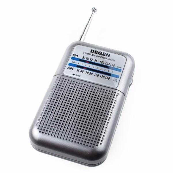 Degen DE333 Portable Mini Handle FM/AM Radio Receiver Two Bands Pointer Radio