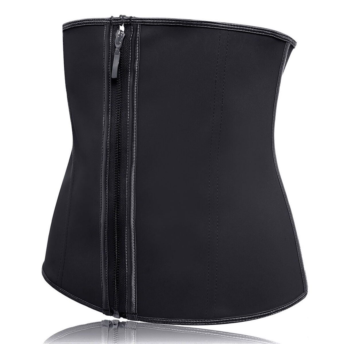 Women's Underbust Latex Slimming Zip Corset Sport Girdle Waist Trainer Cincher Slimming Body Shaper