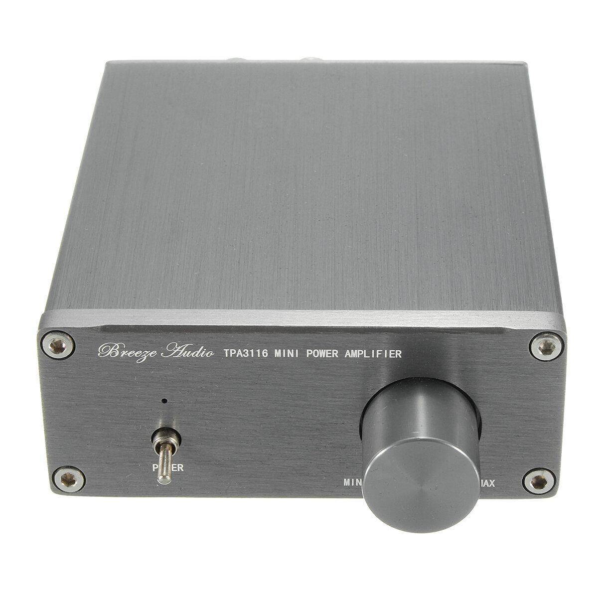 Breeze Audio TPA3116 HIFI Classe 2.0 Amplificateur Numérique Stéréo Avancé 50W + 50W